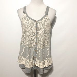 Altar'd State Gray Lace Tank